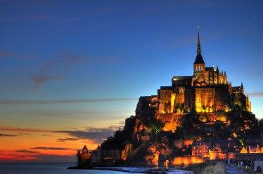 Mont_Saint_Michel_Castle_Sunset_HDR_2012